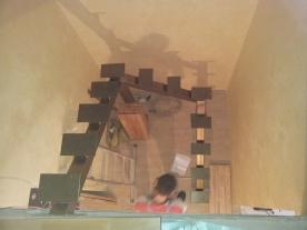 Косоур П-образной лестницы