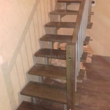 Нижний марш двухкосоурной лестницы
