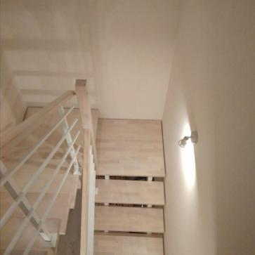 Лестница с квадратной площадкой