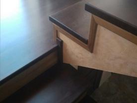 обшивка бетонной лестницы буком