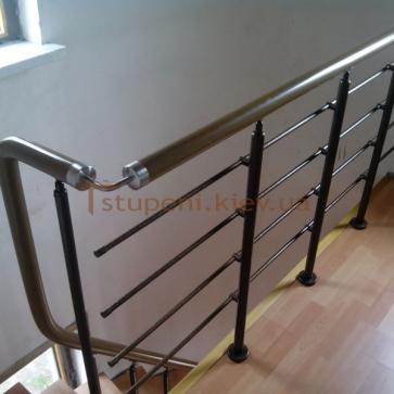 Дуговая модульная лестница балюстрада