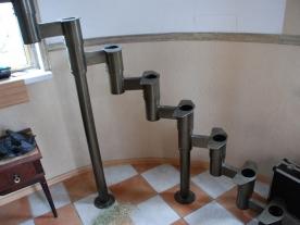 Собранные модули для дугообразной лестницы