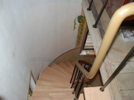 Дуговая модульная лестница вид сверху