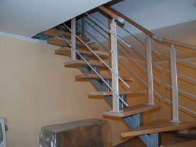 Ограждения сварной лестницы