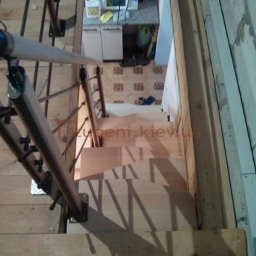 Модульная лестница гусиный шаг вид сверху