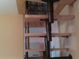 Вид лестницы сзади