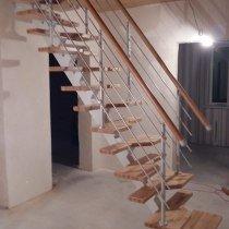 Лестница Гусиный Шаг на одном косоуре