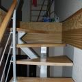 Крепление ступеней однокосоурной лестницы