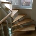 Поворотные ступени - лестница на одном косоуре