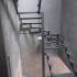 Каркас поворотной лестницы со столбом