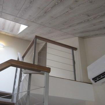 Перило балкона с тросом