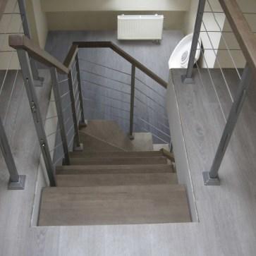Ограждение лестницы тросик