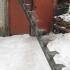 Прямой металлический  каркас лестницы