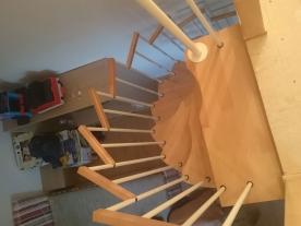 Винтовая лестница гусиный шаг