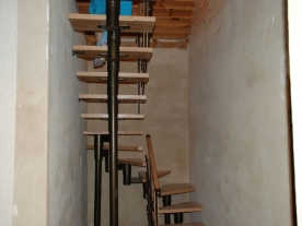 П образная модульная лестница верх