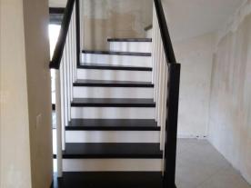 лестница венге и белый