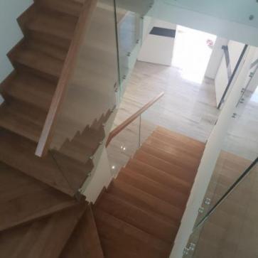 Разворотная лестница обшивка