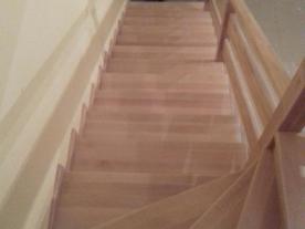 Обшивка лестницы буком