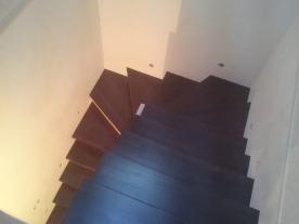Забежные ступени П образной лестницы