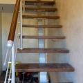 Прямая однокосоурная лестница