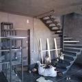 Каркас винтовой лестницына 2-х косоурах