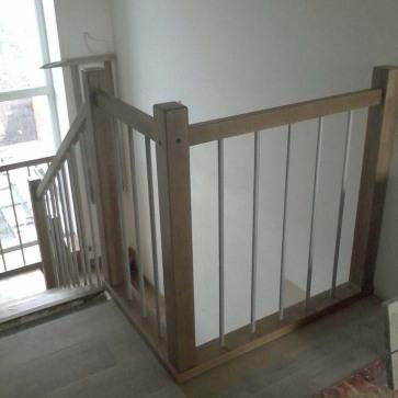 Ограждение бетонной лестницы