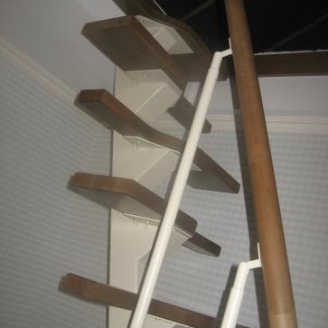 Лестница Гусиный шаг один косоур
