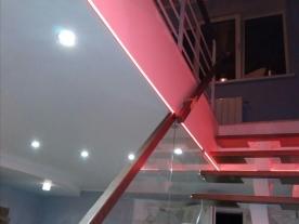 подсветка проема под лестницу