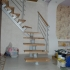 Г- образная открытая лестница на одном косоуре