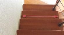 Ширина марша лестницы