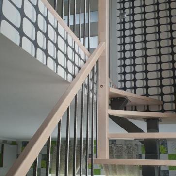 лестница с поворотом 180