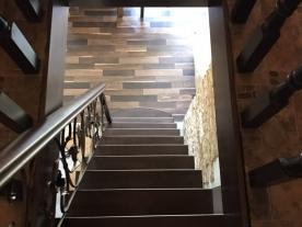 прямая лестница венге