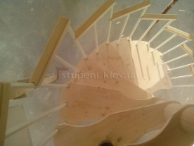 Винтовая лестница вид верху