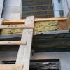 Деревянные балки перед установкой лестницы