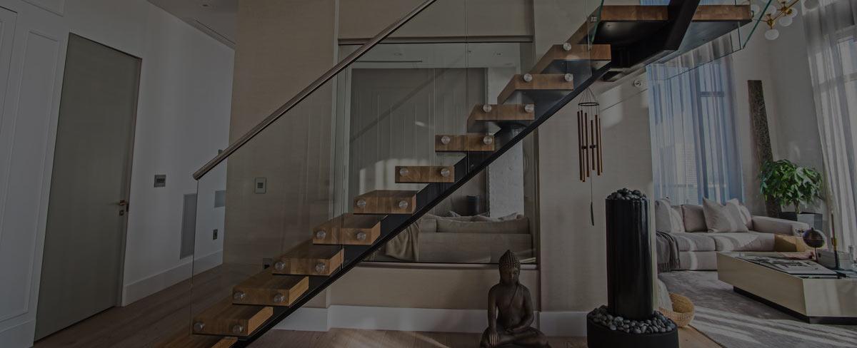 лестница на второй этаж дизайнерская фото горизонтальное