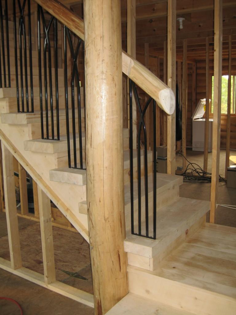деревянная лестница косоур