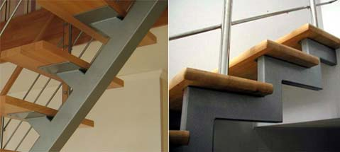 Лестницы на металлическом сварном каркасе