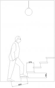 высота и ширина ступеней