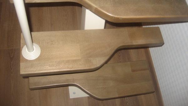 """Прямая лестница """"Гусиный шаг"""". Металлический каркас"""