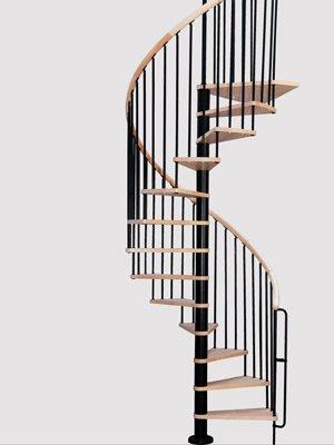 Деревянная сборная винтовая лестница