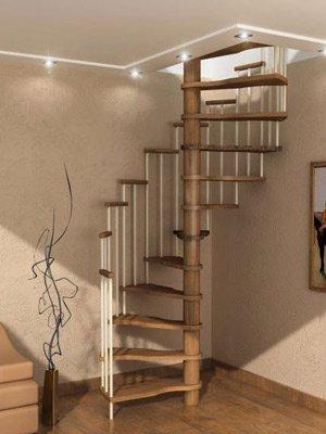 Винтовая сборная лестница сосна или бук