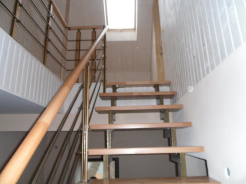Лестница на сварном каркасе