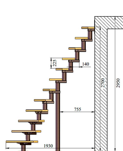 Основные характеристики модульной лестницы Bow