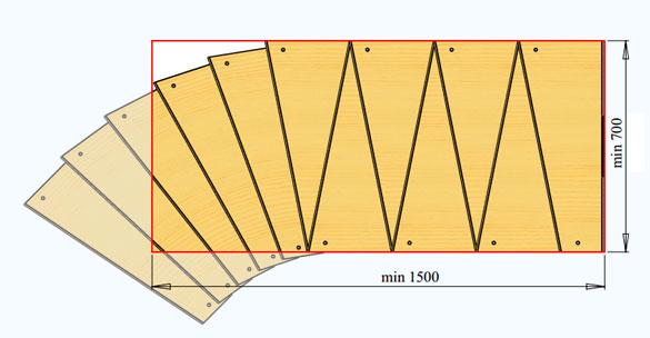 Потолочный проем для модульной лестницы