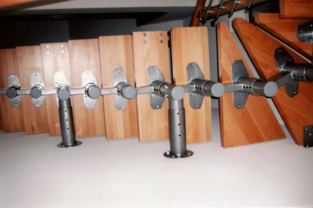 Модульная лестница вид снизу