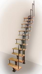 Модульная прямая лестницы
