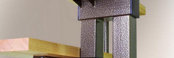 Прямая модульная лестницо Line вид снизу