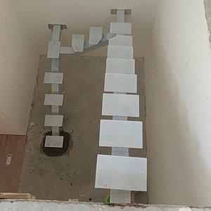 Каркас лестницы на одном косоуре