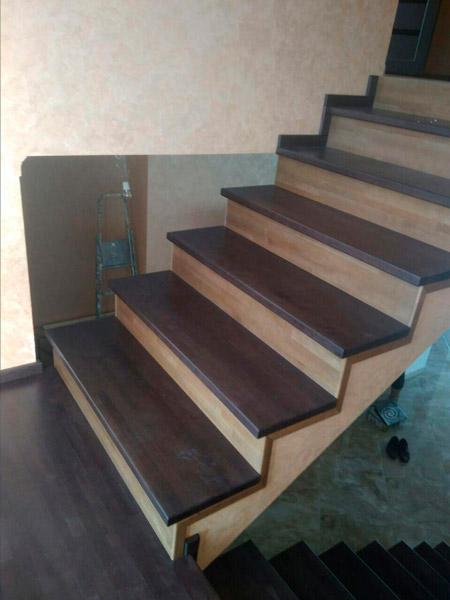 фото деревянной маршевой лестницы